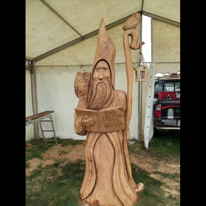 Portfolio chainsaw carvings